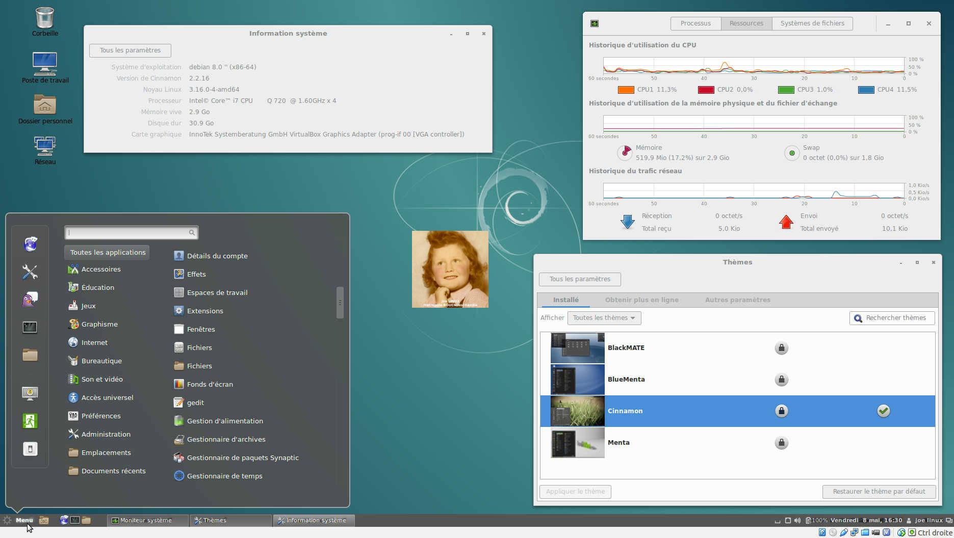 Debian 8 4 (Jessie) LTS | Bureau Cinnamon 2 2 – LINUX
