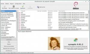 DEBIAN 8 LTS | Synaptic - Gestionnaire de paquets et Logiciels