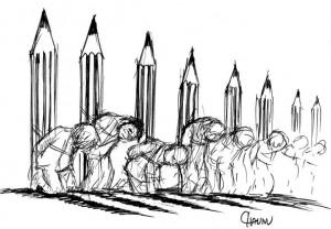 Je suis Charlie | Hommage de Chanu (caricaturiste de Caen)