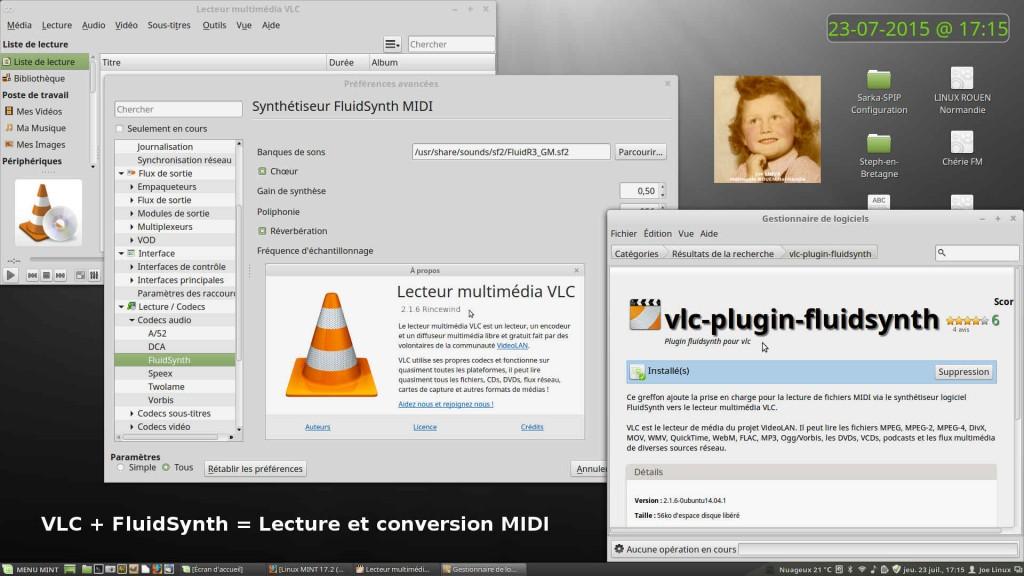 VLC + FluidSynth = Lecture et conversion de fichiers MIDI/SMF