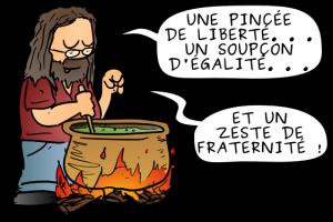 """Le célébrissime druide en chef """"StallmanOramix"""" défendant les valeurs du Logiciel Libre !"""