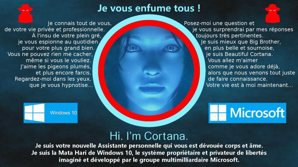 Beautiful Cortana by Microsoft : la nouvelle Assistante personnelle et maléfique de Windows 10 qui vous veut que du mal mais pour votre plus grand bien !