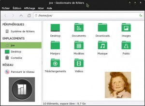 Manjaro 0.8.13 Rolling Release | Gestionnaire de fichiers Thunar