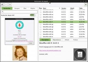 Manjaro 0.8.13 Rolling Release | Gestionnaire de paquets (Pamac)