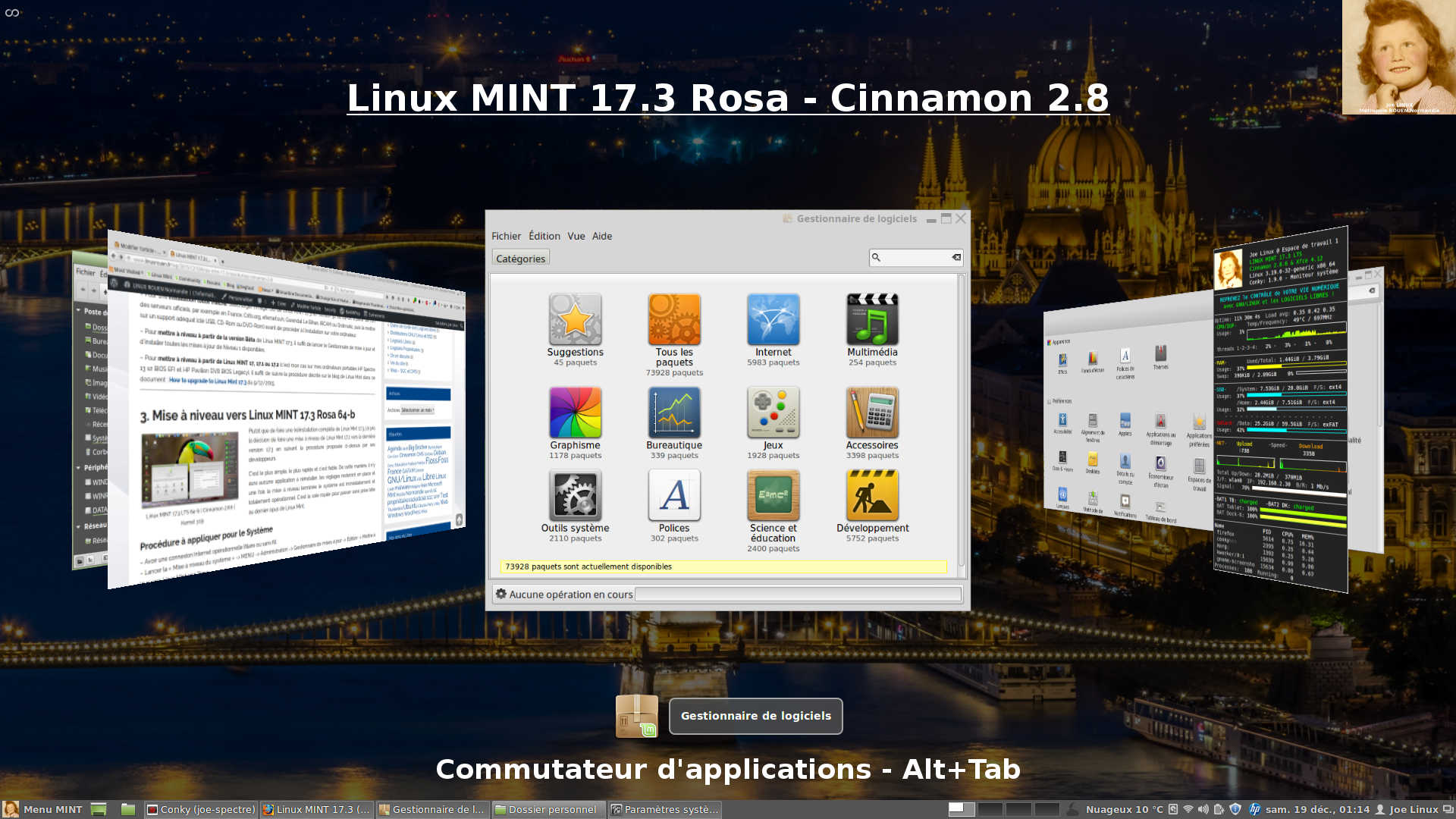 linux mint 17 3 rosa bureau cinnamon 2 8 linux. Black Bedroom Furniture Sets. Home Design Ideas