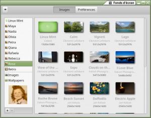 Linux MINT 17.3 LTS 64-b   Cinnamon 2.8.6   Fonds d'écran