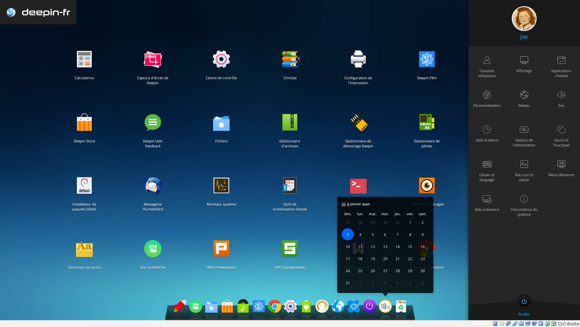 deepin 15 bureau dde page 2 linux rouen normandie libriste seinomarin 76. Black Bedroom Furniture Sets. Home Design Ideas