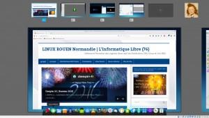 DEEPIN 15 : Vue multitâche - les espaces de travail à portée de clics
