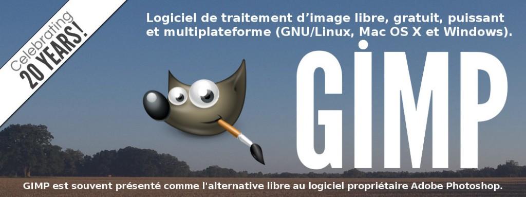 GIMP est un puissant logiciel libre multiplateforme de traitement d'image qui a fêté ses 20 ans en 2015