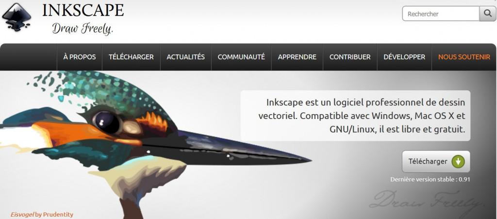 INKSCAPE est un logiciel libre d'édition de graphismes vectoriels comparable à Adobe Illustrator, Freehand ou CorelDraw