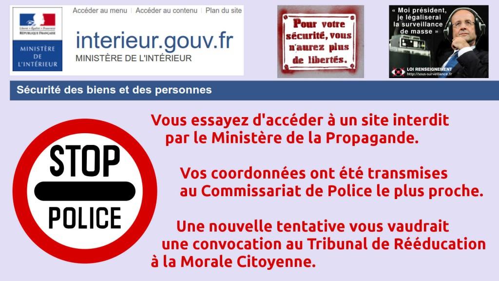 Le Ministère de la Propagande nous espionne ! Vers un système de surveillance et de flicage de masse en France...
