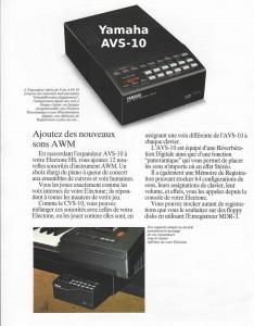Yamaha Expandeur AWM AVS-10 compatible Electone HS Series