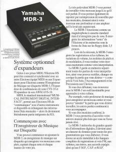 Yamaha Enregistreur/Lecteur MIDI MDR-3 compatible Electone HS Series