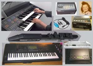 Collection d'instruments MIDI YAMAHA : Orgue Electone - Contrôleur à vent - Synthétiseur & Arrangeur - Expandeur voix AWM - Interface MIDI/USB - Enregistreur de musique - Patcheur I/O - Expandeur voix FM