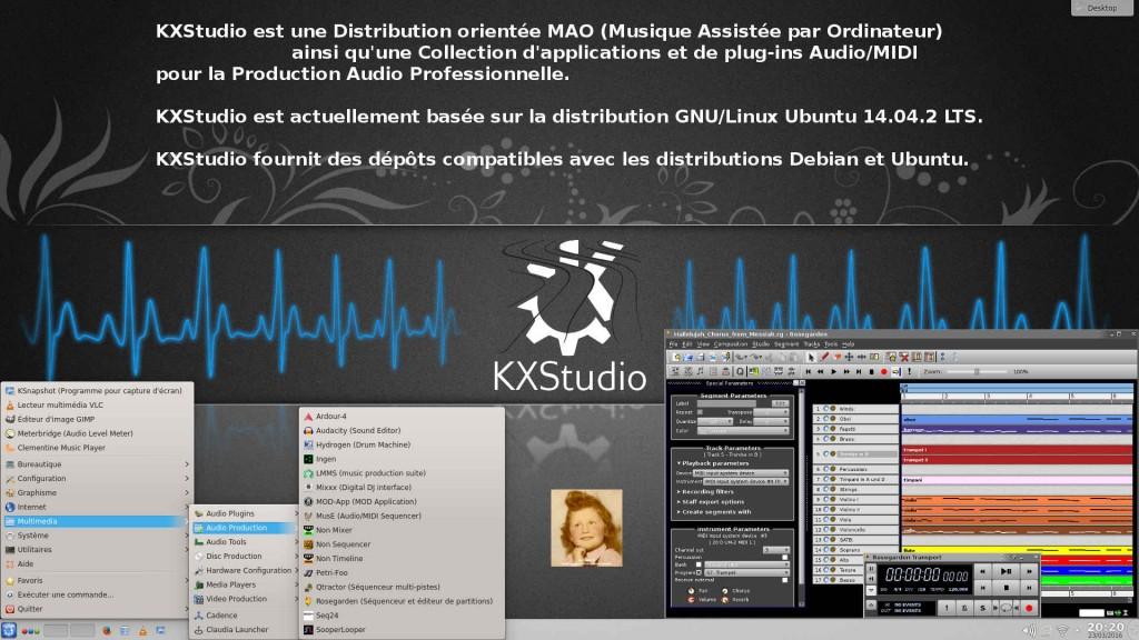 KXStudio 14.04.4 avec son bureau KDE Plasma 4.13.3