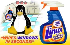 LINUX nettoie les Windows en quelques secondes !