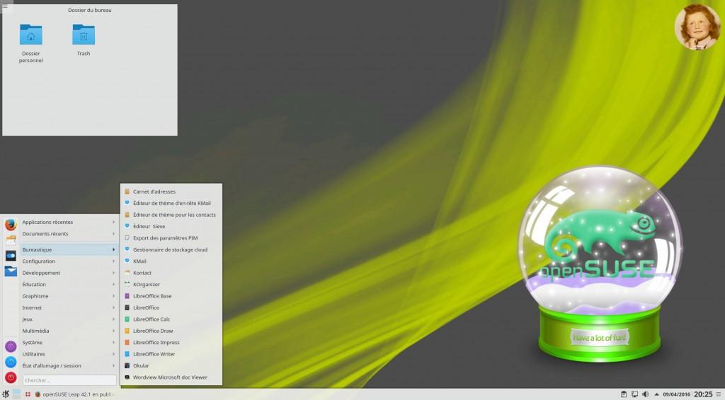 openSUSE Leap 42.1 : Bureau KDE Plasma 5.5.5