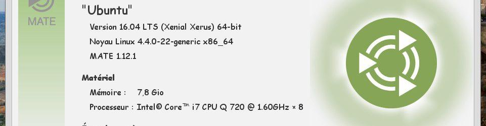 Ubuntu MATE 16.04 LTS : Moniteur Système