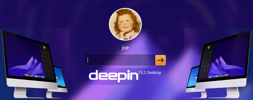 Deepin 15.2 : Écran de connexion (Joe Linux)