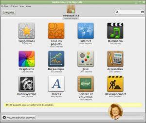 Linux MINT 18.0 Cinnamon : Gestionnaire de logiciels – Logithèque