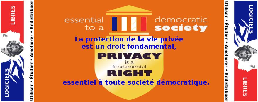 Reconquérir notre vie privée numérique : La protection de la vie privée est un droit fondamental, essentiel à toute société démocratique. Elle est indispensable à la protection des sources journalistiques. Sans elle, il n'y aurait pas d'information libre, ni de secret médical ou professionnel.