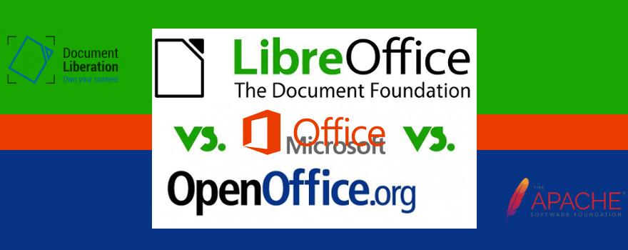 LibreOffice vs. OpenOffice vs. Microsoft Office : deux suites bureautiques libres en lice pour remplacer Microsoft Office propriétaire et fermée