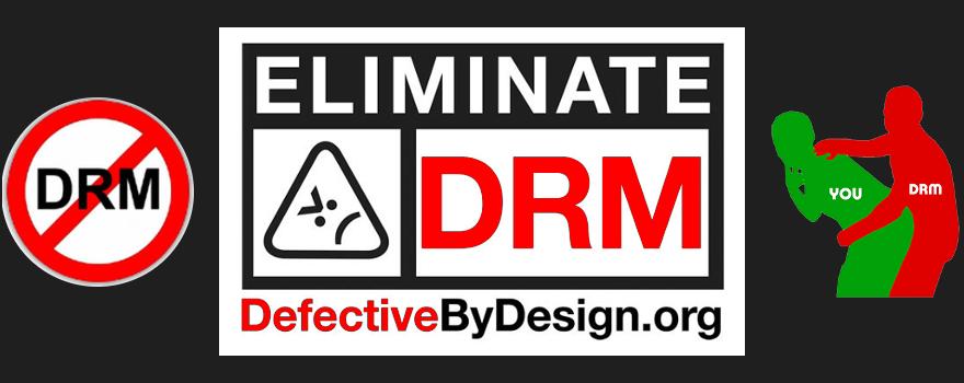 DefectiveByDesign.org (défectueux par conception) travaille à éliminer les DRM (gestion numérique des droits) qui sont une menace pour l'innovation dans les médias, la vie privée des lecteurs et la liberté pour les utilisateurs d'ordinateurs et de matériel informatique.
