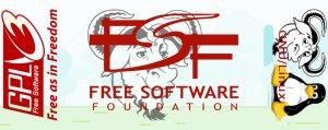 """Free Software Foundation (FSF) : """"Logiciel libre, société libre"""". La FSF est un acteur majeur dans la communauté mondiale du logiciel libre."""