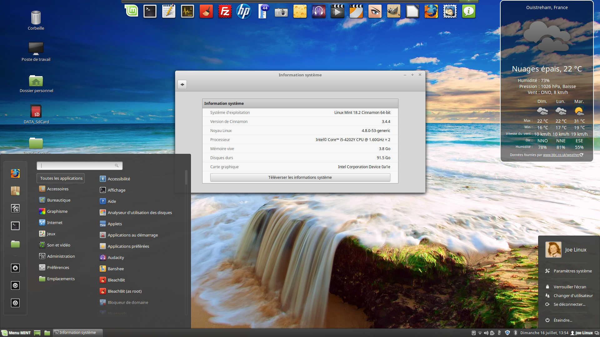 Linux MINT 18 2 « Sonya » disponible en version stable