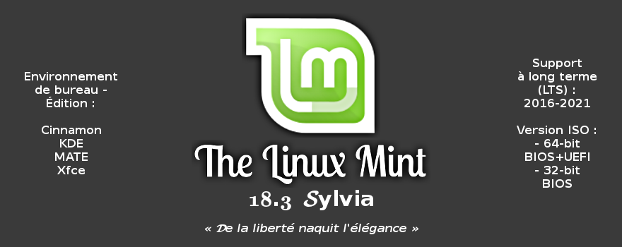linux mint 18 3 sylvia de nombreuses nouveaut s annonc es linux rouen normandie. Black Bedroom Furniture Sets. Home Design Ideas