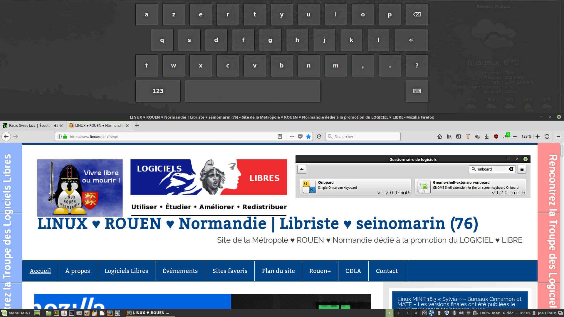 Linux MINT 18 3 Sylvia – bureau Cinnamon 3 6 6 – LINUX