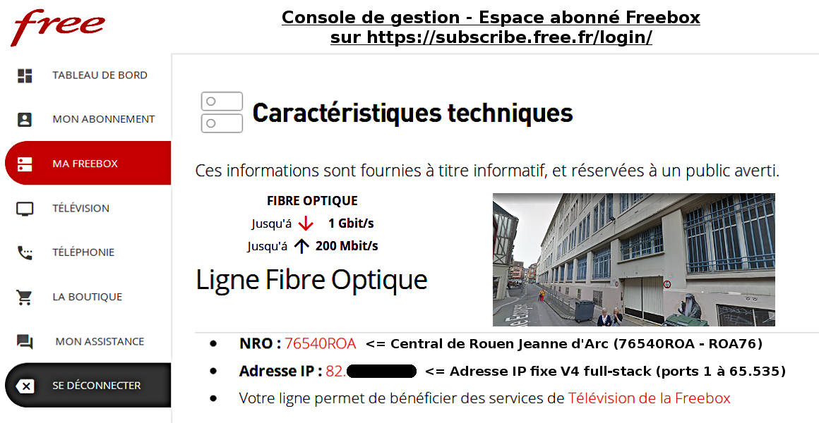 Freebox FTTH   Ligne Fibre Optique sur le NRO 76540ROA du Central  téléphonique ... fb1b33ed13be